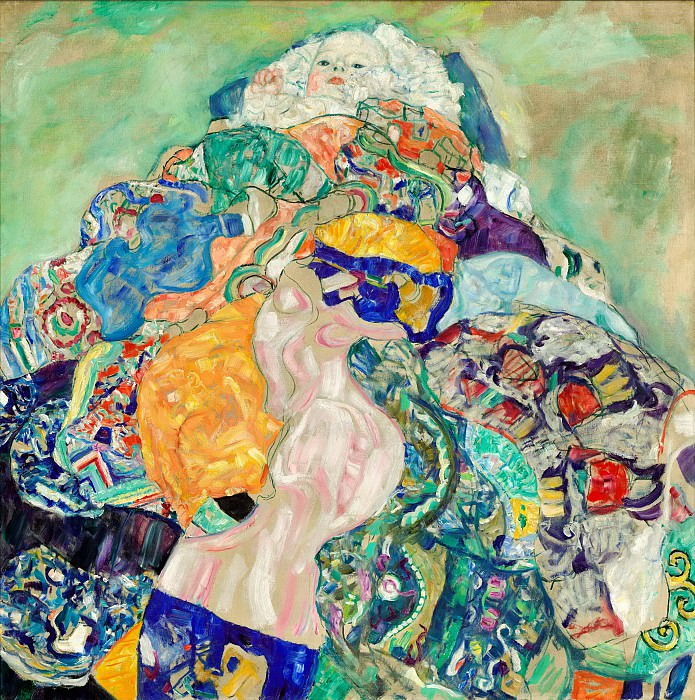 Густав Климт - Klimt Baby, 1917-18, unfinished, oil on canvas, private coll