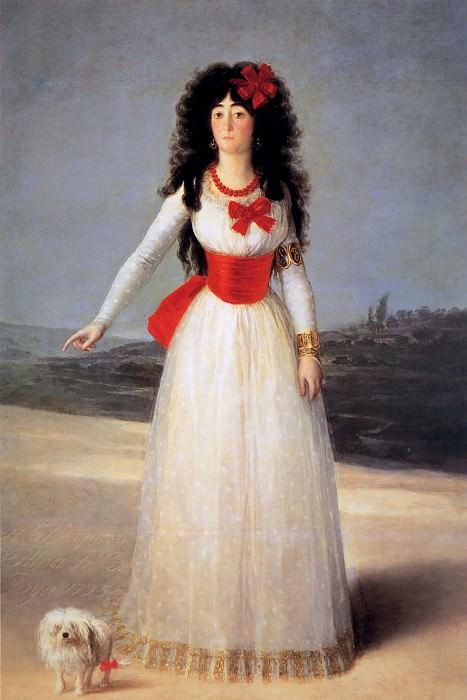 Франсиско де Гойя-и-Лусьентес - Goya de Francisco Jose The dutchess of Alba Sun