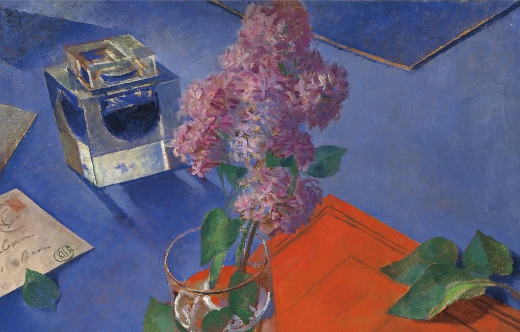 В Москве впервые показали картину «Натюрморт с сиренью» Петрова-Водкина