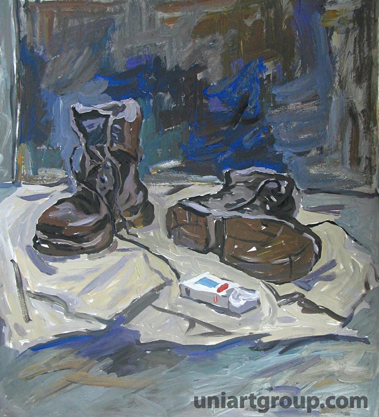 натюрморт с ботинками живопись